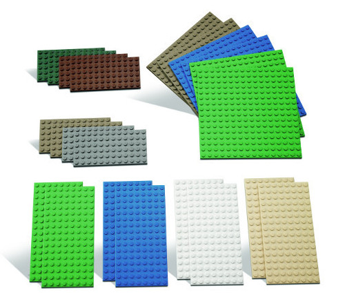 lego bauplatten 22 st ck klein gr n blau grau erde wasser asphalt basic 9388 ebay. Black Bedroom Furniture Sets. Home Design Ideas