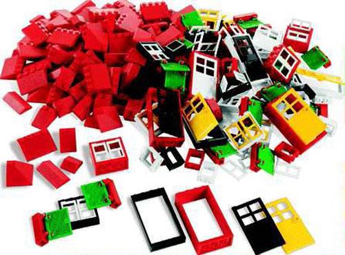 lego education t ren fenster und dachsteine 9386. Black Bedroom Furniture Sets. Home Design Ideas